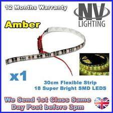 1 x Amber 30cm 18 SMD LED Flexible Adhesive Strip Light Car Van 12V Super Bright