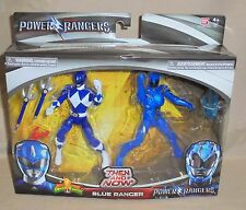 2017 Movie Mighty Morphin Power Rangers Then and Now Blue Ranger Figure 2 Pack