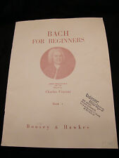 Partition Bach for Beginners Book 1 Charles Vincent
