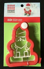 """Sweet Creations 3D Sitting Santa Cookie Cutter-Comfort Grip-4""""-Free Shipping"""