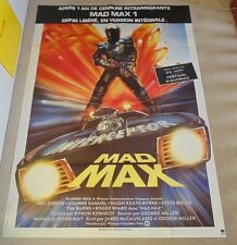 MAD MAX ORIGINAL HUGE 1982 FRENCH CINEMA GRANDE MOVIE POSTER Mel Gibson 1st
