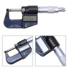 Portable LCD Electronic Digital Outside Micrometer 0-25mm/0.001m Carbide Tip+Box
