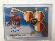 2015 Topps Triple Threads Jamison Crowder Rookie Auto 3 Color Jersey Patch 10/10