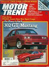1981 Motor Trend Magazine: 302 GT Mustang/RX7 Turbo Street Stormer/Ferrari Boxer