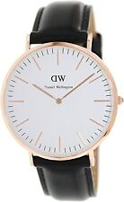 Daniel Wellington Men's Sheffield 0107DW Black Leather Quartz Watch
