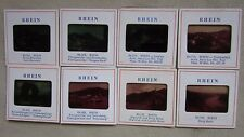 Lot of 8 Hamburg GERMANY RHEIN 35MM SLIDES RED BORDER Scenery Water Boats Ship