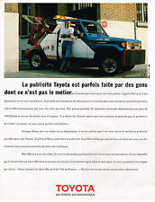 PUBLICITE ADVERTISING 104  1989  TOYOTA  HARRY le dépanneur