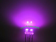 100pcs, 3mm Pink Flat Top Led Wide Angle Water Clear Light Bright Leds Lamp New