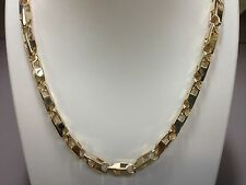 "14k solid gold handmade link men's chain necklace 22"" 72 grams 5.5MM"