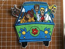 "Scooby-Doo & Gang in Mystery Machine  4"" Tall Embroidered Patch Free Shipping US"
