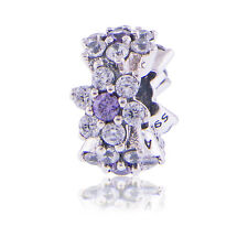 Genuine Pandora Silver Forget Me Not Spacer 791834ACZ 925 ALE Authentic