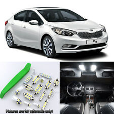 Xenon White 9pcs Interior ELD Light Kit for 2010-2016 Kia Forte + Free Tool