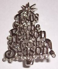 VINTAGE     ''  JESUS IS THE REASON FOR THE SEASON TREE  ''   BROOCH PIN