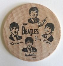 THE BEATLES ORIGINAL OFFICIAL  WOODEN NICKEL COIN