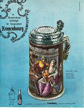 PUBLICITE ADVERTISING 0314   1963   KRONENBOURG   bière  bock DAVID TENIERS