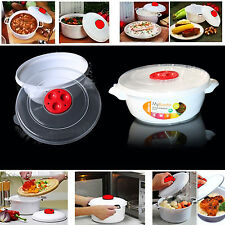 1L ALL IN ONE MICROWAVE POT PRESSURE Cooker VEGETABLE RICE PASTA COOKING EASY