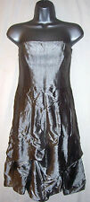 COAST  SILVER EMPIRE LINE STRAPLESS DRESS SIZE 10