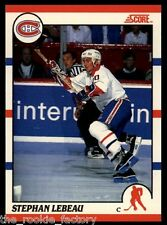 1990-91 Score Canadian #262 Stephan Lebeau RC | Montreal Canadiens