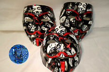 Anonymous CUSTOM V VENDETTA MASK Guy Fawkes protest hack Mask MASKS FAWK Painted