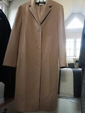 Calvin Klein Collection Vintage Coat, Camel Fur Coat, Made in Italy, Size 10