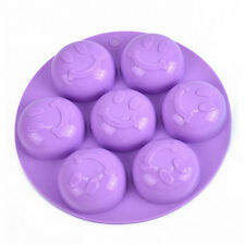 Lovely Smile Cake Mold Soap Flexible Silicone Mould For Candy Chocolate