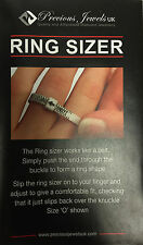 New UK Ring Sizer Finger Gauge Sizing Wedding Ring Size + INTERNATIONAL CHART