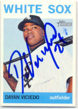 DAYAN VICIEDO CHICAGO WHITE SOX SIGNED 2013 TOPPS HERITAGE BASEBALL CARD