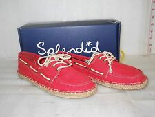 Splendid New Womens Ranger Punch Washed Canvas Boat Shoes 9 M Shoes
