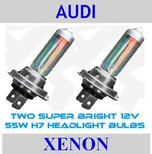 Audi XENON MEGA WHITE UPGRADE H7 Car Headlight BULBS for A2 A3 A4 TT Twin Pack
