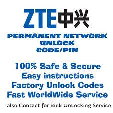 ZTE NETWORK UNLOCK CODE/PIN FOR ZTE Light Tab V9C