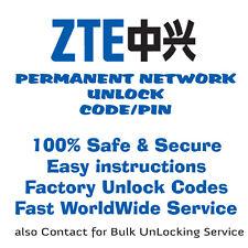 Unlock Code for ZTE MF61 Modem Wifi MIFI via IMEI