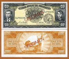 SPECIMEN, Philippines, 20 Pesos (ND) 1949, P-137s3, UNC