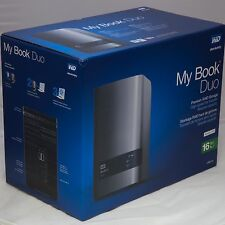 WD 16TB My Book DUO Desktop RAID USB 3.0 ENCLOSURE ONLY SATA Hard Drive Case