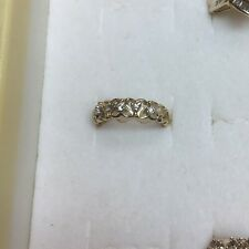 Natural DIAMOND Ladies RING solid 10k yellow GOLD best deal on ebay