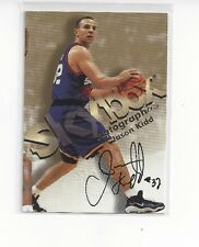 1998-99 SKYBOX PREMIUM CERTIFIED AUTHENTIC AUTO AUTOGRAPHICS JASON KIDD #70