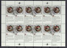 UNO New York 1991 gestempelt MiNr. 623-624  Bogensatz  Menschenrechte
