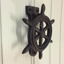 New CAST IRON SHIPS WHEEL HELM DOOR  KNOCKER Home Decor Gift Fathers Day