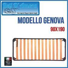 RETE A DOGHE IN FAGGIO NATURALE PER MATERASSI SINGOLO 90X190 ORTOPEDICA