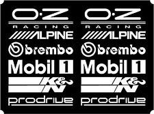 12 White Car Door Stack  Sponsor Logo Stickers,Graphics,Decals  set 2