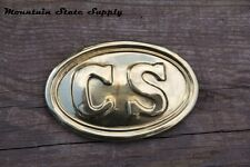 U.S. Civil War CS South Confederate States Lead Back Filled Brass Belt Buckle