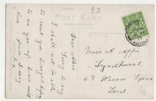 Miss A. Apps, Lyndhurst, 63 Warrior Square St. Leonards on Sea Postcard, B180