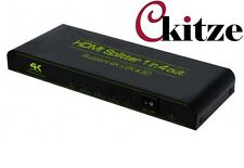 CKITZE 1x4 4 Port HDMI Audio Video v1.3b 1080p Splitter Adapter for HD TV PS3 3D