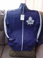 NEW MITCHELL & NESS RETRO NHL TRACK JACKET MONTREAL CANADIANS NEW with TAGS