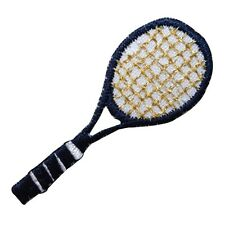 ID 1558 Blue Tennis Racket Racquet Sports Embroidered Iron On Applique Patch