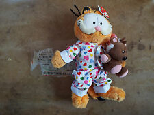 TY GOODNIGHT GARFIELD the CAT in PJ's Beanie Baby Babies with Pookie - UK SELLER