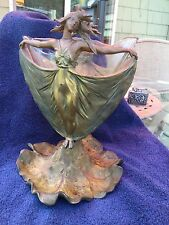 Fabulous Victorian Art Nouveau Dancing Maidens Vase Double Sided
