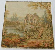 Vintage French Beautiful Scene Tapestry 73x73cm T395