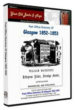 Glasgow Post Office Annual Directory 1852 - 1853 CDROM