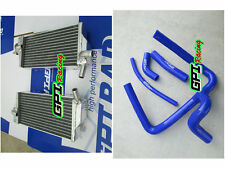 GPI Aluminum radiator and BLUE hose Honda CR250 CR250R 2005 2006 2007 05 06 07