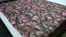 "MC2 PINK HUNTING CAMO TRUE TIMBER 60""W 1.2OZ NON WOVEN SOFT CAMOUFLAGE FABRIC"